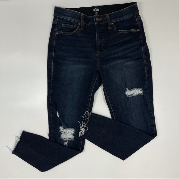 ✨sold✨LulaRoe Distressed Raw Hem The Skinny Jeans